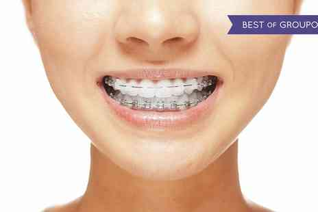 Dental Care London - Clear Braces for One or Two Arches with Advance Oral Health Report - Save 65%