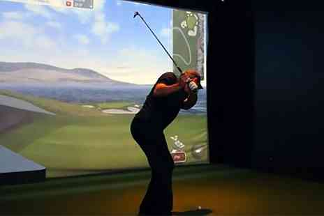 KJ Golf Academy - One Hour Golf Simulator Session for Up to Four - Save 40%