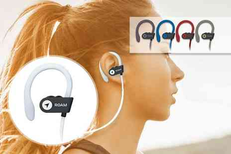 spartanoutlet - Pair of Roam Bluetooth sports hook headphones select from five colours - Save 54%