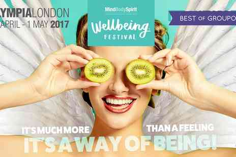 Mind Body Spirit - Two Tickets to Mind Body Spirit Festival on 28 April To 1 May - Save 50%