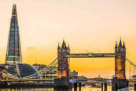 Into The Blue - Two Tickets to The Shard and Thames River Cruise With 3 Course Lunch - Save 0%