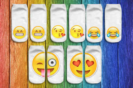 Eblacksquare - Emotion Socks Available in 5 or 10 Pairs - Save 84%