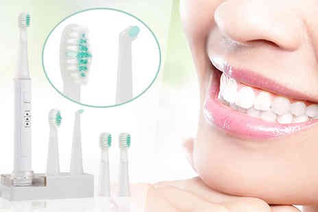 AMS Global - Five Piece iActive Sonic Toothbrush With Stand - Save 67%