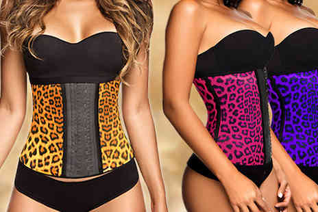 Eblacksquare - Latex Body Shaper Available in Three Colours in Six Sizes - Save 75%