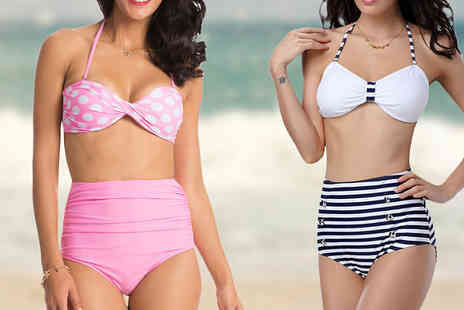 Romatco - High Waisted Bikini Available in Two Designs - Save 83%
