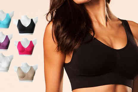 Eblacksquare - Pack of 6 or 12 Colourful Comfort Bras - Save 80%