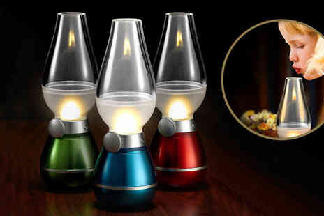 Eblacksquare - Blowing Controlled Kerosene Led Lamp Available in Three Colours - Save 63%