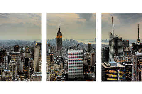 Print Block - Triptych Framed Canvasses Set of Three - Save 50%