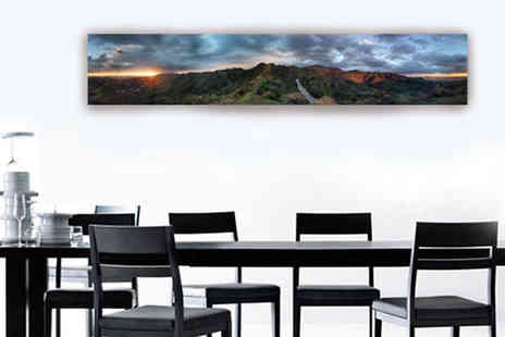 PRINT BLOCK - Personalised Panorama Canvas Choose Three Sizes - Save 59%