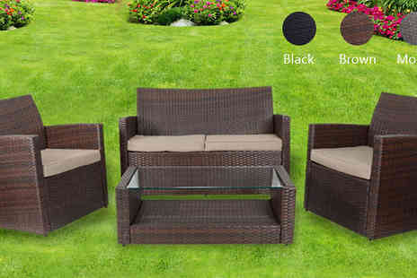 XS Stock - Four Piece Tuscany Rattan Set Choose Three Colours - Save 67%