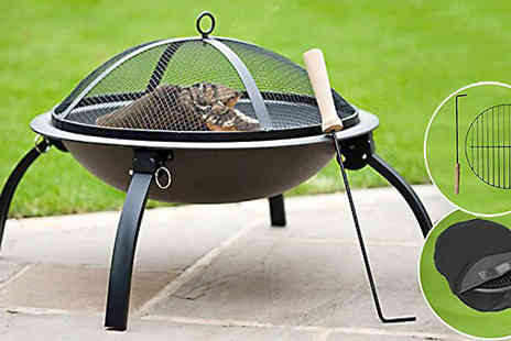 Funky Buys - Garden Fire Pit with Grill and Carry Bag - Save 67%