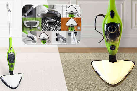 Fastline Importers - Ten in One Multipurpose Steam Mop and Handheld Steamer - Save 64%