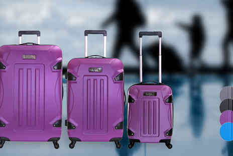Karabars - Three Piece Hard Shell Luggage Set Available in Four Colours - Save 54%