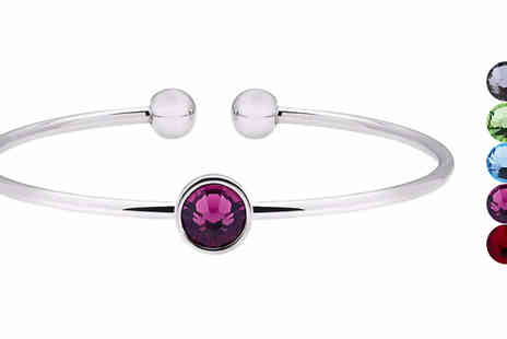 Lily Spencer - Cuff Bangle With Crystals From Swarovski Five Colours - Save 82%
