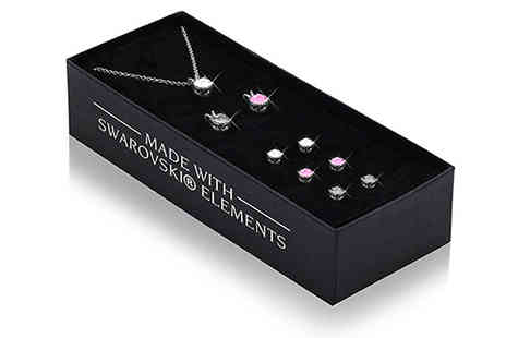 Lily Spencer - Set of Three Earrings and Pendants With Crystals - Save 88%