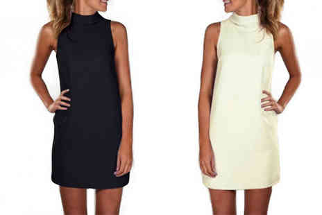 Bazaar me - Sleeveless Tunic Dress Two Colours - Save 77%