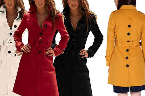 Hawt Online - Trench Coat in 4 Colours - Save 60%