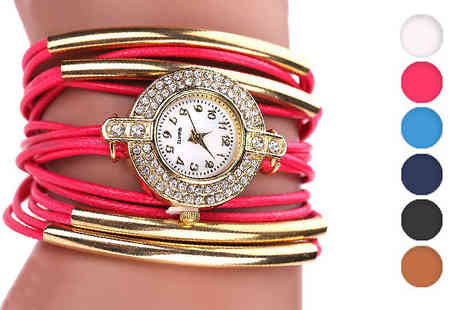 Romatco - Lara Wrap Watch Made With Swarovski Elements in 6 Colours - Save 82%