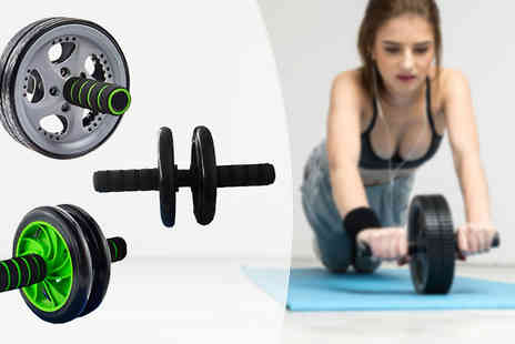 Comxuk - Abdominal Toning Roller with Knee Mat in 3 Designs - Save 83%