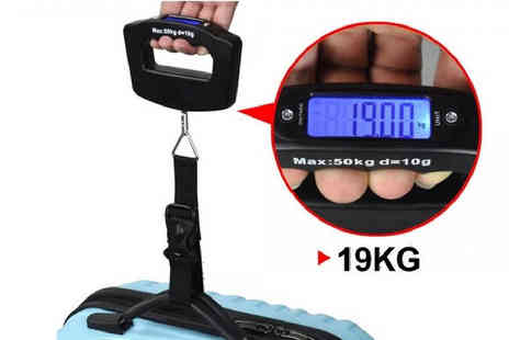 Fakurma UK - Set of Two 50KG Digital Travel Scales - Save 86%