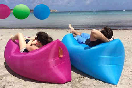 J & Y - Fast Inflatable Air Lounger in 3 Colours - Save 73%