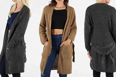 Bejealous - Knitted Belted Cardigan in 5 Colours - Save 63%