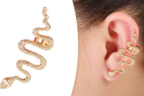 Marcus Emporium - Golden Snake Cuff Earring - Save 93%