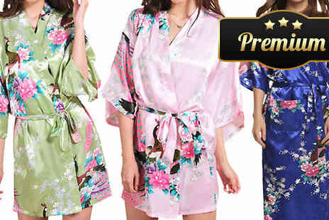 eFindbest - Luxury Silk Blend Kimono in 3 Colours - Save 71%