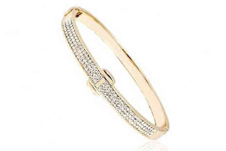 Marcus Emporium - Gold Plated Crystal Bangle - Save 86%