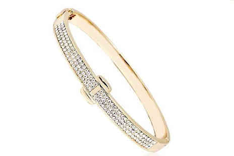 Marcus Emporium - Gold Crystal Bangle Cuff - Save 84%
