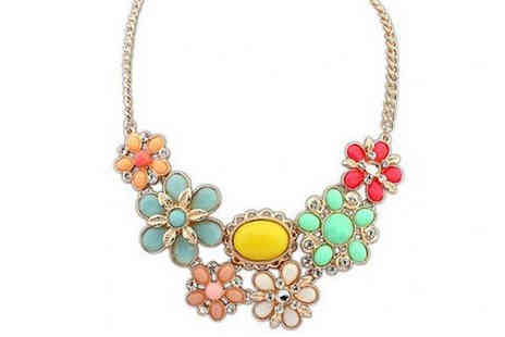 Marcus Emporium - Swarovski Elements Spring Flower Necklace - Save 82%