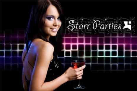 Starr Parties - VIP Night Out For Up To Ten Girls With Private Table, Queue Jump Entry, Cocktail and More for £59 - Save 80%