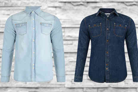 Minterr - Mens Bellfield Denim Look Shirts in 2 Colours - Save 43%