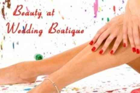 The Wedding Boutique - Shellac Manicure or Pedicure - Save 67%