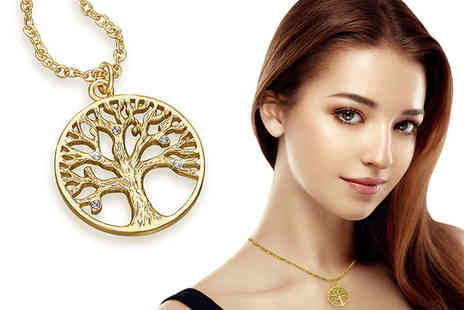 Lily Spencer - Tree of Life Pendant Necklace with Crystals from Swarovski - Save 82%