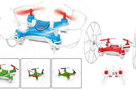 Toy Loco - RC Nano Drone in 3 Colours - Save 64%