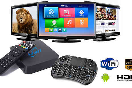 Supreme Direct - Android Quad Core HD TV Box with Optional Wireless Keyboard - Save 85%