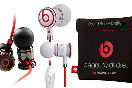 Minterr - Monster iBeats by Dr Dre Noise Cancelling Earphones in 2 Colours - Save 69%