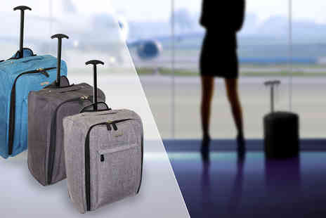 Pearl Info - Lightweight Wheeled Cabin Suitcase in 3 Colours - Save 82%
