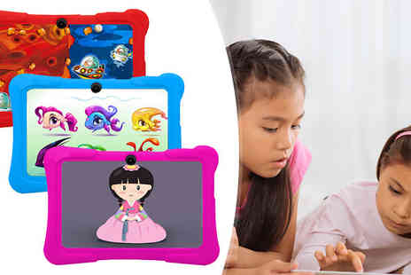 tecwizz - 7 Inch 8GB Kids Tablet With Heavy Duty Case Integrated Wi Fi in 3 Colours - Save 80%
