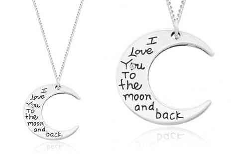Jewellery Bank - Diamond I Love You To The Moon And Back Necklace - Save 64%
