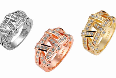 India Rose Designs - Criss Cross Ring in 3 Colours - Save 90%