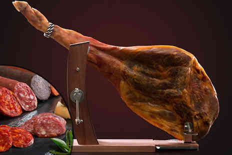 F & A Mediterranean Delicatessen - 9 Piece 4.5kg Serrano Ham Shoulder Set - Save 34%