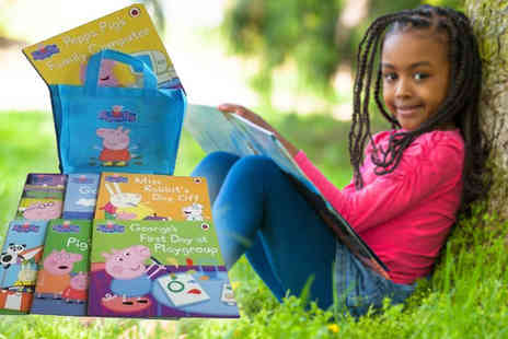 Snazal - Peppa Pig 10 Book Collection with Carry Bag - Save 50%