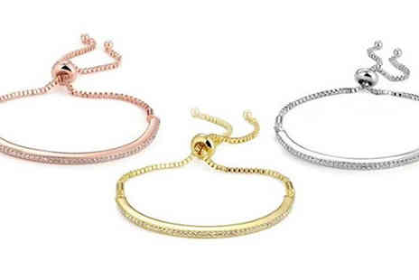 Marcus Emporium - Crystal Friendship Bracelet in 3 Colours - Save 86%