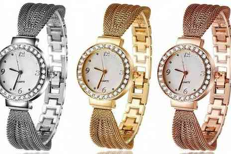 Romatco - Olivia Cussi Watch with Swarovski Elements in 3 Colours - Save 82%