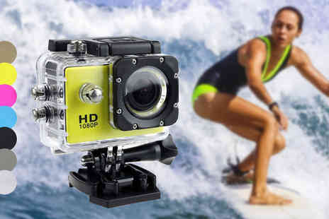 Tomllo - 1080p HD Action Camera in 7 Colours - Save 75%