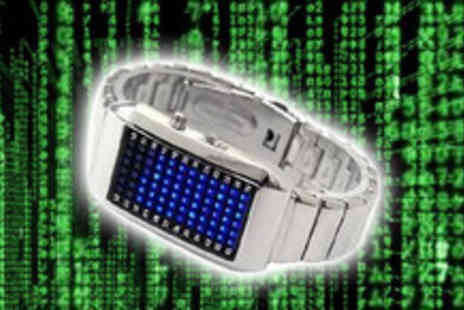 Smartass Marketing - Accessorise with a stainless steel binary watch - Save 73%