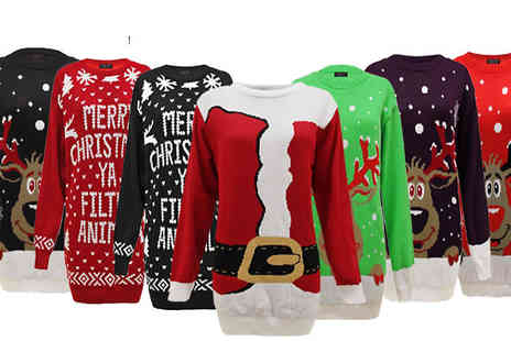 Envy Boutique - Plus Size Knitted Christmas Jumper in 7 Designs - Save 63%