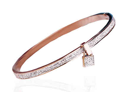 Marcus Emporium - 18K Rose Gold Plated Bangle - Save 85%